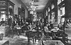 Kávéház a XIX. század végén. - Cafe the XIX. on a century's end.